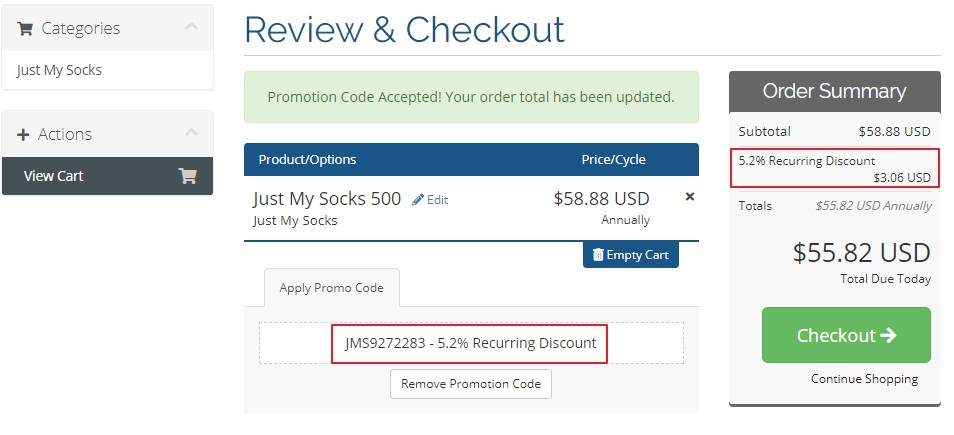 Just My Socks注册教程和促销优惠码